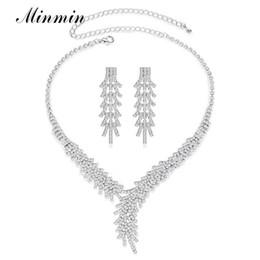 I fan Seckill monili di lusso d'argento di colore di cristallo da sposa set di gioielli lucido principessa Necklace Earrings Set Fashion Party da
