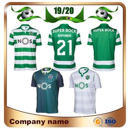 Sport-uniformen online-2019 Sporting Lissabon Fußball Trikots 19/20 entfernt grün COATES ACUNA RAPHINHA Fußball Trikots Lissabon DOST PHELLYPE 3. Fußball-Uniformen