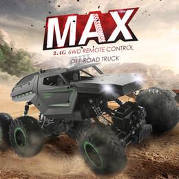 Rc coches rtr online-JJRC Q51 RC Car 2.4G Off Road MAX 6WD RTR Racing Truck Car Six Wheels cepillado control remoto juguetes escalada