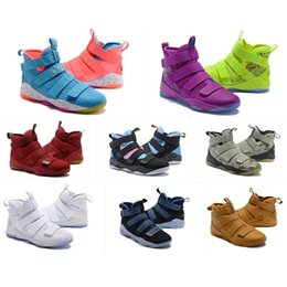 original basketball shoes for sale Promo Codes - The What Lebron Soldier 11 Mens Basketball Shoes For Sale Christmas Bhm Oreo Youth Kids Generation Boots With Original Box Size 7 12