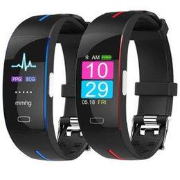 Braccialetto P3 Smart Wristband ECG + PPG Blood Pressure Watch Braccialetto intelligente Fitness Tracker Smartband Braccialetto impermeabile da