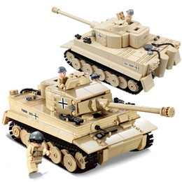 crianças, exército, brinquedos Desconto 995 pcs Militar Alemão King Tiger Tanque Blocos de Construção Compatível Exército WW2 soldado arma tijolos crianças Brinquedos AIJILE
