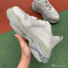 as mulheres da forma elevam calçados dos esportes Desconto Designer de moda de Luxo BL Triplo S Sapatilhas para mulheres dos homens de salto alto Sapatilhas Vovô Sapatilhas Formadores de Basquete Esportivo