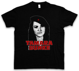 che shirts Coupons - Tamara Bunke T-Shirt - Tania Fidel Cuba Castro Portrait Che Revolution Free Shipping Mens New Summer Cotton T Shirts
