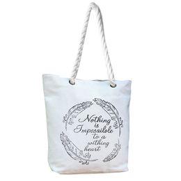 Handgemalte taschentaschen online-Women's Mori-Stil handbemalte Umhängetasche mit großem Fassungsvermögen Damen-Canvas-Einkaufstasche Strandtasche H30514