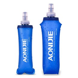 foldable bpa free water bottles wholesale Promo Codes - AONIJIE 250ml 500ml Foldable BPA PVC Free Soft Water Bottle Kettle Travel Outdoor Sport Camping Hiking Walking Running