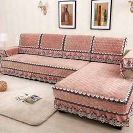 sofá cubierta de tela de terciopelo Rebajas Tejido de alta calidad, antideslizante, cojín del sofá, invierno, espesa cubierta de sofá de terciopelo Respaldo suave y cómodo, toalla de algodón cubierta