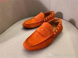 scarpe casual scarpe in pelle pura Sconti Mens ultimi moda scarpe casual in pelle colore puro Vera pelle scollati mocassini a tacco basso per calzature di guida pigri, Gli Imballaggio