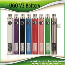 Evod genuíno on-line-Autêntica EcPow UGO V3 3 III Bateria 650 mAh 900 mAh Pré-aqueça 510 Rosca Evod EGO Micro USB Carregador Vape Para Cartucho de Óleo Grosso 100% Genuíno