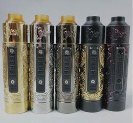 Kit mecânico clone on-line-e cigarro vape mecânico mod kit purga peça slam mod com rda clone 20700 21700 18650 vape mech mod