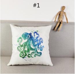 Colorful Polpo Medusa Stampa Cotone Lino Copertura della cassa del cuscino Divano per auto Cuscino Sham Poltrona per soggiorno / studio / sala da pranzo Camera da letto Hotel da