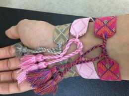 brazaletes indios americanos Rebajas Tejidos a mano Famous D I y OR American Indian Crafts Pulseras tejidas Amuleto Bordado Carta Pulsera Pulsera clásica