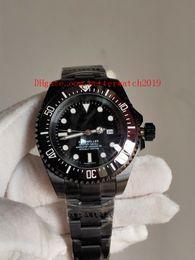 Giorno pvd online-Orologio da uomo di alta qualità di vendita calda 126660 126600 abitante di mare 44mm Ceramica ETA 2813 automatico di colore nero PVD Day Date Wristwatche da uomo