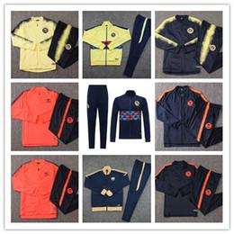 2019 2020 Club America di calcio Giacca Kit 18 19 20 LIGA MX Club America di calcio di formazione Tute Camisa de Futebol America di calcio Tuta da frangia di benzema jersey fornitori