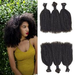 Canada 4a, 4b Afro Kinky Bouclés En Vrac Pour Tresser Les Cheveux 8-30 Pouce Non Transformé 100% Naturel Cheveux De La Cuticule Livraison Gratuite FDshine CHEVEUX supplier processed kinky curly hair Offre