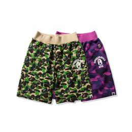 calças brancas Desconto Um banho curto calções de tubarão macaco AApe Japão Shark Jaw Shorts Camo mens designer Calças Off calças de cabeça de macaco Branco mens shorts