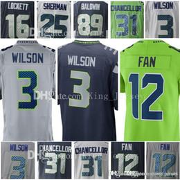 Limited 3 Russell Wilson Seattle Jersey Seahawk 12 12th Fan 25 Richard  Sherman 31 Kam Chancellor 16 Tyler Lockett 89 Doug Baldwin Thomas ffac04176