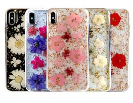 Teléfono celular de la flor online-Flor de Hyun para iPhonex max Cáscara del teléfono de epoxy Flores secas Flor real Cáscara protectora del teléfono celular del teléfono móvil de epoxy