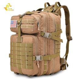 Sacs à dos chevalier gratuits en Ligne-Free Knight 45L Sac À Dos Tactique Assault Pack Army Bag Molle Trekking Sac De Voyage Résistant À L'eau Camping Randonnée