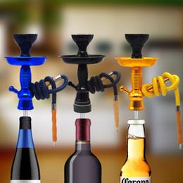 Canada Narguilé Premium Shisha Champagne / Vin Kit Top Tige De Narguilé HOOKITUP Aluminium Narguilé Chicha Ensemble Complet Avec Bol Et Tuyau Flexible cheap bowls wine Offre