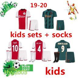 Canada Ajax 2019 2020 FC Home away Maillots de football kits enfants + chaussettes 19/20 Camisa ZIYECH KLUIVERT NOURI DOLBERG YOUNES Maillots Maillots de football ensembles Offre
