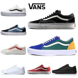 a73077d90 2019 Old Skool Low Black White Skateboard Classic Canvas Skate Shoes  zapatillas de deporte Mujer Hombre Zapatillas de deporte Entrenadores 36-44