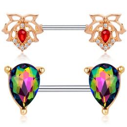 20pcs Inoxydable Clip De Mamelon Divers Style Anneau De Mamelon Cristal Strass À La Mode Corps Piercing Bijoux Pour Femmes ? partir de fabricateur