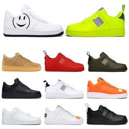 zapatos de trigos Rebajas Nike air force Hot One 1 Dunk Hombres Mujeres Flyline Zapatillas Deportivas Skateboarding Ones Shoes Cut Negro Blanco Trigo Zapatillas de deporte 36-45