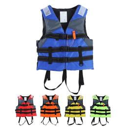 Abiti usati online-Sport acquatici Giubbotto di salvataggio Giubbotto di salvataggio Sport Turismo Scopo speciale Uso marino Bambino Modelli colorati adulti tute sicure QQA435