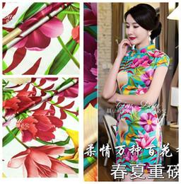 2019 tecidos para impressão digital 150 cm elegante retro impresso tecido de alta imitação de seda cheongsam tecido impressão digital Hanfu vestido atacado pano tecidos para impressão digital barato