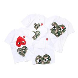 2019 rosa sparkly kleid 5t Die Designer-T-Shirts der Männer Frauen commes Herzsportt-shirts des garcons Familie kleidet T-Shirt CDG SPIEL-Baby scherzt T-Shirt