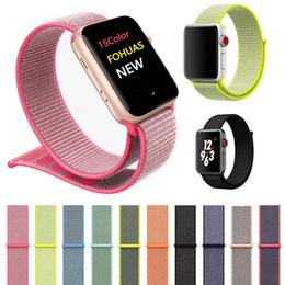 La serie di orologi libera online-Wristband per Apple iWatch 40 millimetri 38 millimetri 44 millimetri 42 millimetri Cinturino morbido nylon Sport Loop Wristband di ricambio per iWatch 3 4 serie ePacket libero