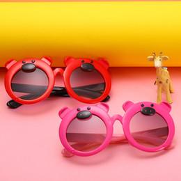 caricature de lunettes de filles mignonnes Promotion Nouveau cochon dessin animé lunettes de soleil bébé mignon lunettes de soleil pour enfants
