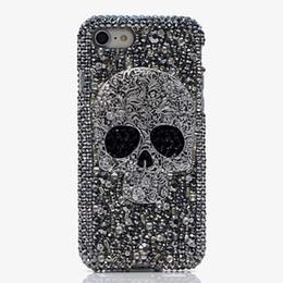 чехол для мобильного телефона Скидка Для iPhone 7 8 Plus Bling Блестящий чехол Девушка Lady 7 8Plus 6 6S Plus 5 Череп Панк Кристалл Алмазный чехол для телефона для iPhone X XR XS Max