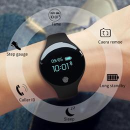 pulsera inteligente deportes android Rebajas Reloj inteligente con Bluetooth para IOS Android Hombres Mujeres Deporte Podómetro inteligente Relojes de pulsera de fitness para iPhone Reloj para hombres