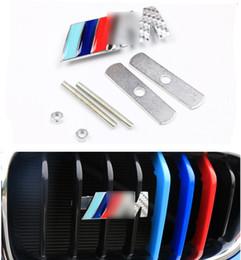 parafango del cappuccio Sconti BMW M potenza della coda di marchio marchio distintivo posteriore del tronco Fender Emblem Sticker griglia della griglia del cofano anteriore del cappuccio dell'emblema del distintivo