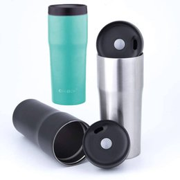 taza plegable telescópica de acero inoxidable Rebajas Taza del viaje de vacío 480ml pared Acero inoxidable de doble taza aisladas BPA