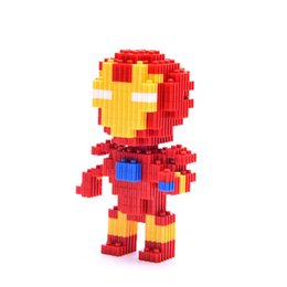 Marvell Superhero Battman Ironn uomo Captainn America Spiderrman Building Block Figure Toy For Children Toys Figure regalo da torta in miniatura all'ingrosso fornitori