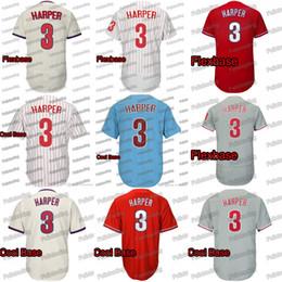 Красный номер трикотажные изделия бейсбола онлайн-3 Harper Бейсбол Джерси Сшитые Имя и номер Красный Белый Синий Серый Crean Бейсбол Трикотажные Изделия Бесплатная Доставка