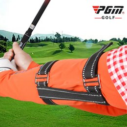 golfschwungs haltung Rabatt PGM Golf Arm Posture Corrector Nylon Verstellbar Verhindert die Fixierung von Biegearmen Swing Trainer Golf Anfänger Trainingszubehör