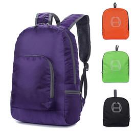Складные рюкзаки онлайн-Men Women Backpack Unisex Fresh Solid Color Foldable Backpack Nylon Large Capacity Zipper Travel Students Schoolbag