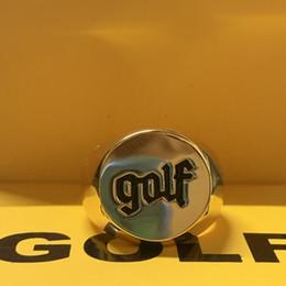 Golfringe online-GOLF WANG ALTES LOGO tyler der Schöpfer Ring Hip-Hop Rap Mode Persönlichkeit Ringe