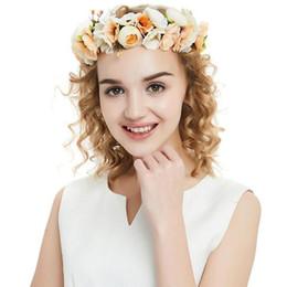 2019 fascinadores lindos Nova Flor Nupcial Coroa Floral Bonito Faixa de Cabelo Coroa De Flores De Hortelã Headpiece Headpiece Casamento Da Dama De Honra Acessórios Para o Cabelo CPA1893