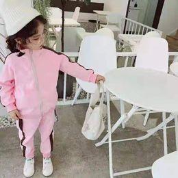 Kleine jungs passt mädchen online-FF Kinder Reißverschluss Mäntel + Hosen Anzüge Herbst 2019 Kinder Boutique Kleidung 2-10 T Kleine Jungen Mädchen Lange Ärmel Anzüge