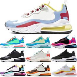 Wholesale Reagire Uomini Athletic Shoes Donne Designer Trainer Sneakers Electro Laguna Verde Light Beige Chalk Reagisce Rosso Giallo Rosa Scarpe corsa
