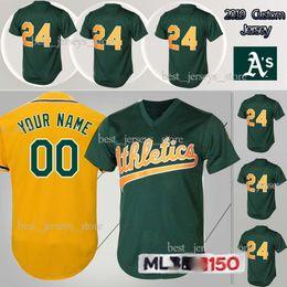 ea0b7db4058 customized Jerseys Athletics jerseys 44 Reggie Jackson 24 Rickey Henderson  35 Rickey Henderson Top MEN shirt