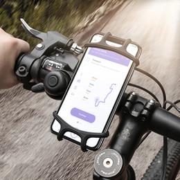 Evrensel Ayarlanabilir Bisiklet Cep Telefonu Tutucu Cradle Standı Motosiklet Dağı telefonu Ile GPS Navigasyon Kauçuk Kayış cheap bicycle mount phone holder nereden bisikletle takılan telefon tutacağı tedarikçiler