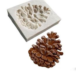 Fimo lehmformen online-Kiefernnüsse geformt 3D-Fondantkuchen-Silikonform für Fimo formt Schokoladengebäck-Süßigkeit, die Dekorationswerkzeuge bildet
