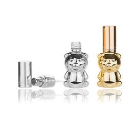 garrafas de parfum 8ml Desconto 8ML Urso bonito Forma Perfume Embalagem Garrafa bico de pulverização garrafa reutilizável Parfum Cosmetic Glass Container
