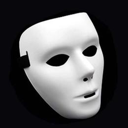 2019 máscara de fantasma rosto cheio Máscara de Halloween Moda Cosplay Partido Adulto Máscaras de Rosto Completo Máscara de Careta Branca Máscaras de Dança Fantasma de rua Máscaras de Dançarino Máscara de Hip-hop DBC VT1702 máscara de fantasma rosto cheio barato
